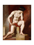 A Male Nude Giclee Print by William		 Etty