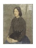 Girl with Cat in her Lap Prints by Gwen		 John