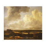 An Extensive Landscape in Summer Giclee Print by Jacob Isaacsz. Ruisdael