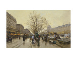 The Docks of Paris Giclee Print by Eugene		 Galien-Laloue