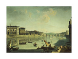 A View of the Arno with the Ponte alle Gracie, Florence Giclee Print by Thomas Patch