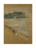 Figures on a Beach Near Cliffs Giclee Print by James Abbott McNeill Whistler