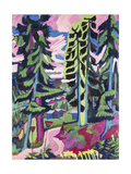 Wild Mountain (Mountain Forest; Summer Forest) Reproduction procédé giclée par Ernst Ludwig Kirchner