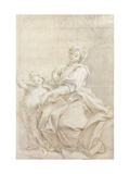 The Virgin and Child Near a Basin Giclee Print by Gaulli Giovanni Battista