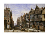 Chester: Watergate Street from the Corner of Crook Street, with Eastgate Beyond Giclee Print by Louise		 Rayner