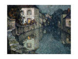 Houses on the Canal, Nemours Premium Giclee Print by Henri		 Le Sidaner