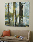 Contemporary Forest 1 Print by Kathleen Cloutier