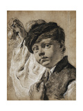 A Boy Holding a Lemon Giclee Print by Giovanni Battista		 Piazzetta