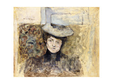 Woman with Netted Hat Prints by Edouard		 Vuillard