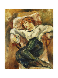 Hermine Resting Giclee Print by Jules		 Pascin