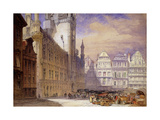 The Hotel de Ville, Brussels Giclee Print by William		 Callow