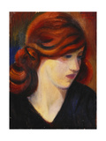 Portrait of a Young Girl Giclee Print by Mark		 Gertler