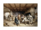 Shipwrights taking a Rest Giclee Print by Jean-Baptiste		 Madou