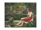 By the Pond Giclee Print by Hans Andersen Brendekilde