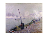 Paris, the Henri IV Bridge, in the Morning Print by Gustave		 Loiseau
