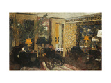 Room with Three Lamps, Rue St. Florentin Giclee Print by Edouard		 Vuillard