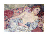 Nude on a Divan Poster by Theo Rysselberghe
