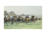The Derby, Tattenham Corner Print by Gilbert		 Holiday