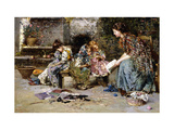 The First Lesson Giclee Print by Vincenzo		 Irolli