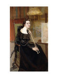 Self-Portrait of the Artist at an Easel Giclee Print by Henriette Daux