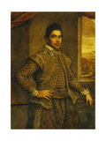 Portrait of a Gentleman, Wearing an Elaborately Embroidered Costume Art by Domenico Robusti		 Tintoretto