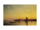 Venice from the Lagoon at Sunset Giclee Print by Ivan Konstantinovich		 Aivazovsky