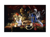 A Pie on a Pewter Plate Giclee Print by Jan Davidsz. Heem