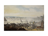 A Regatta on the Thames below Westminster Giclee Print by Thomas		 Rowlandson