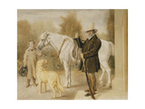 A Sportsman with a Boy, a Pony and a Dog Poster by William Henry		 Hunt