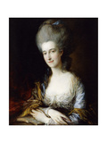 Portrait of Dorothea, Lady Eden, Wearing a Blue Dress and Grey Shawl Giclee Print by Thomas		 Gainsborough