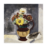 Daisies in a Lustre Jug, St. Ives Giclee Print by Christopher		 Wood