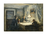 Evening in Skagen (The Artist's Family) Giclee Print by Viggo		 Johansen