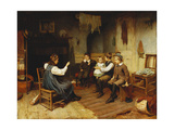 Playing School Premium Giclee Print by Harry		 Brooker