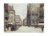 Stefanplatz, Vienna Giclee Print by Rudolf Bernt