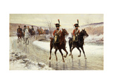 Napoleon and his Escort Giclee Print by Jan		 Chelminski