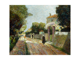 Sunny Village Street Giclee Print by Victor		 Charreton