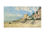 Malakoff Tower and the Shore at Trouville Premium Giclee Print by Eugène Boudin