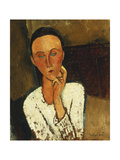 Lunia Czechowska (with Hand on the Right Cheek) Giclee Print by Amedeo Modigliani