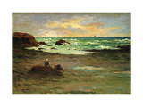 A Corner of the Beach at Concarneau Premium Giclee Print by Claude Emile		 Schuffenecker