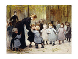 In the Playground Giclee Print by Henri Jules Jean		 Geoffroy