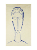 Study of a Head for a Sculpture Giclee Print by Amedeo Modigliani