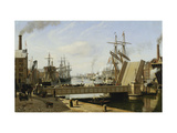 A View of Copenhagen with the Knippelsbro Giclee Print by Jans Erik Carl		 Rasmussen