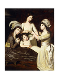 Group Portrait of Mary, Charlotte, Caroline and Eliza, daughters of Christopher and Anne Gullett Giclee Print by John		 Opie