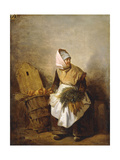A Peasant Woman with Vegetables and Bread Prints by Auguste-Xavier		 Leprince