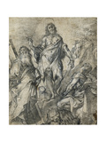 John the Baptist Flanked by Saint Andrew and Saint Jerome Posters by Francesco	attr. to)	 Vanni