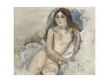 Blonde Girl Posing Giclee Print by Jules		 Pascin