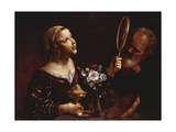 An Allegory of the Senses Giclee Print by (Attributed to) Angelo Caroselli