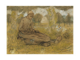 Young Girl in Spring Giclee Print by Jan		 Toorop