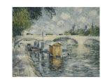 Le Pont Louis Philippe, Paris Art by Gustave Loiseau