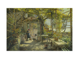 In the Pergola Art by Peder Monsted